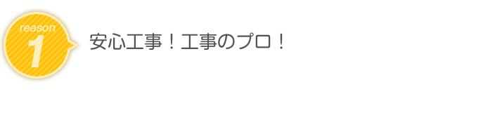 reason1.安心工事!工事のプロ!